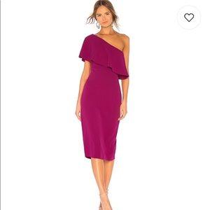 Lovers + Friends One Shoulder Midi Dress Size XS